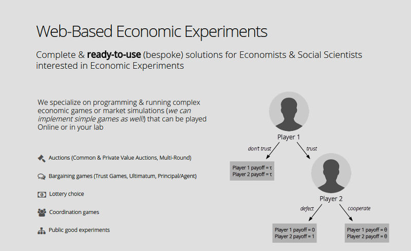 Web-Based Economic Experiment